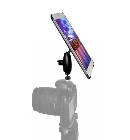 iPad 5 Camera SLR Hot Shoe Flash Connection and Tripod Mount Adapter Kit