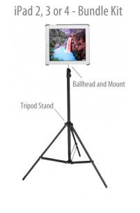 G8 Pro® iPad Tripod Mount (For iPad 2, 3 & 4) Bundle Kit with Tripod Stand Mount, Carry Bag and Ball Head