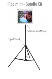 G8 Pro® iPad Mini Tripod Mount (For iPad mini) Bundle Kit with Tripod Stand Mount, Carry Bag and Ball Head