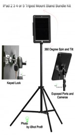 G9 Pro® iPad Tripod Mount Metal Case w/ Built-in Tripod Mount Adapter Bundle Kit for iPad 2, 3 & 4 Retina (PRE ORDER)