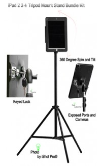 G9 Pro® iPad Tripod Mount Metal Case w/ Built-in Tripod Mount Adapter Bundle Kit for iPad 2 3 4