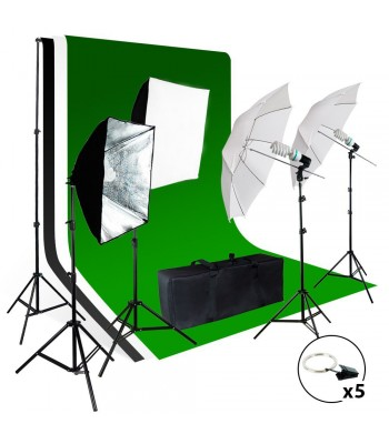 Photo / Video Studio Light Background Screen Kit