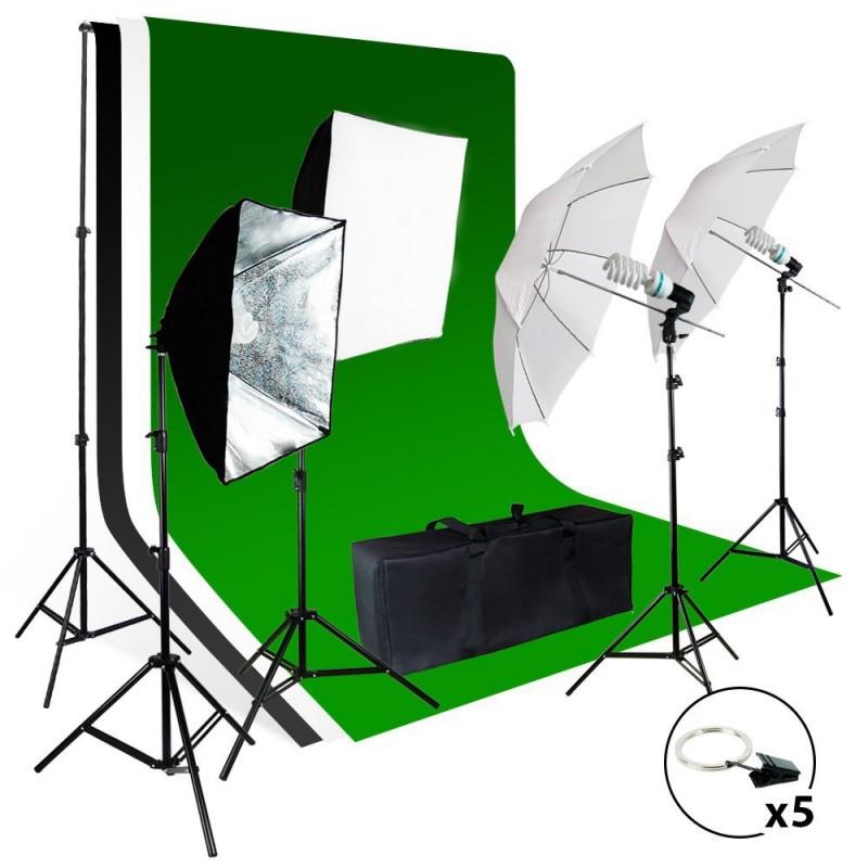 Photo / Video Studio Light Background Screen Kit