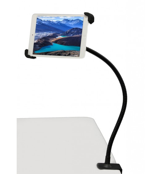 G10 Pro 360° iPad Universal Tablet Goose-neck Seat Bed Wheel Chair Desk Bolt Photo Booth Clamp Mount and Holder Bracket Fits 7-11 inch Tablets