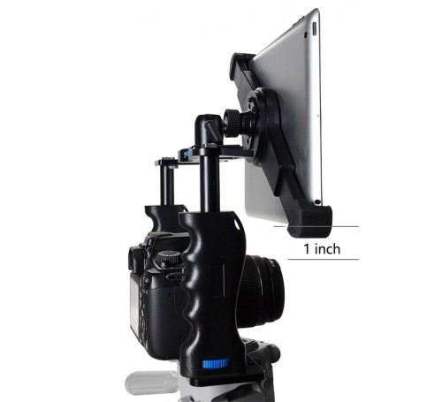 ipad teleprompter, teleprompter for ipadteleprompter for ipad, ipad camera tripod teleprompter kit, ipad teleprompter kit mount holder bracket glass remote ikan, universal adjustable ipad tablet teleprompter kit, g10 pro universal ipad teleprompter,