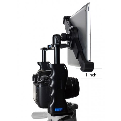 G10 Pro Large Universal Teleprompter 360° Adjustable iPad Tablet Premium Video Rig Camera Cage Kit + Free Smartphone Mount Fits 9-13 inch Tablets