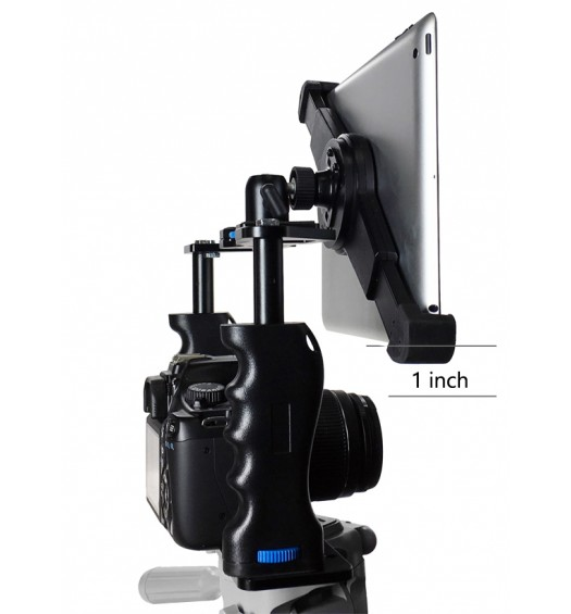 G10 Pro Large Universal 360° Adjustable iPad Tablet Premium Teleprompter Camera Cage Kit + Free Smartphone Mount Fits 8-16 inch Tablets
