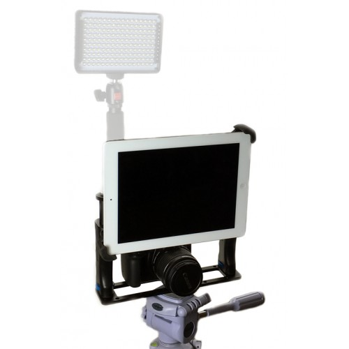 G10 Pro Universal 360° Adjustable iPad Tablet Premium Teleprompter Camera Cage Kit + Free Smartphone Mount Fits 7-11 inch Tablets
