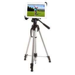 G10 Pro Large Universal iPad Pro Tablet Tripod Mount + 60 inch Adjustable Pan Head HD Camera Tripod w/ Bag Fits 8-13 inch Tablets
