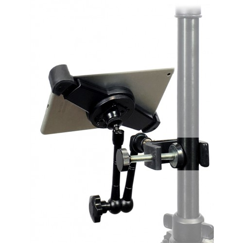 "G10 Pro iPad Air 1 Tripod Microphone Stand Camera Clamp Mount + 11"" Rock Solid Extension Arm"