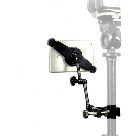 "iPad Air 1 Tripod Microphone Stand Camera Clamp Mount + 11"" Rock Solid Extension Arm"