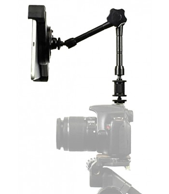 "G10 Pro iPad 1234 SLR Camera Teleprompter Hot Shoe Flash Mount Connection + 11"" Extension Arm"