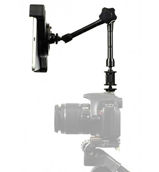 "G10 Pro iPad Pro 10.5 SLR Camera Teleprompter Hot Shoe Flash Mount Connection + 11"" Extension Arm"