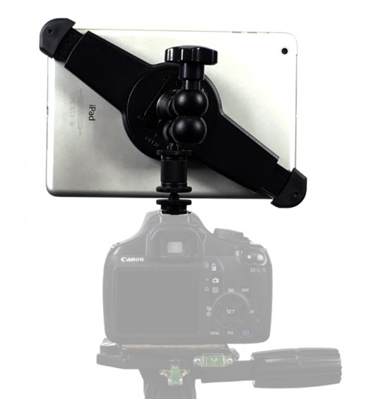 "G10 Pro iPad mini 1234 SLR Camera Teleprompter Hot Shoe Flash Mount Connection + 11"" Extension Arm"