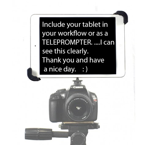 "G10 Pro iPad Air 1 SLR Camera Teleprompter Hot Shoe Flash Mount Connection + 11"" Extension Arm"