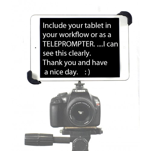 "G10 Pro iPad Air 2 SLR Camera Teleprompter Hot Shoe Flash Mount Connection + 11"" Extension Arm"