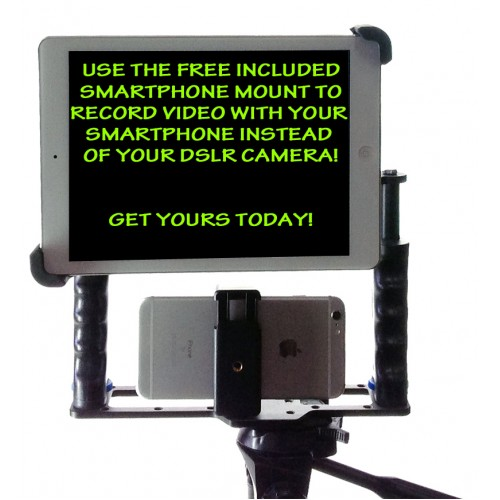 ipad pro 12.9 10.5 9.7 11 teleprompter, ipad pro 12.9 10.5 9.7 11 video rig, teleprompter for ipad pro 12.9 10.5 9.7 11, teleprompter for ipad, ipad camera tripod teleprompter kit, ipad pro 12.9 10.5 9.7 11 teleprompter kit mount holder bracket glass remo