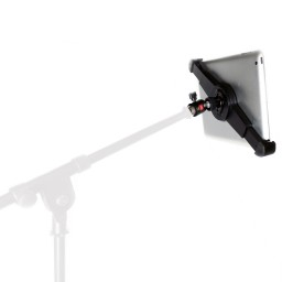 G10 Pro Large iPad Pro Universal Tablet Mic Music Stand Mount Holder with 5/8-1/4 Adapter & 360° Swivel Ball Head Fits 8-13 inch Tablets