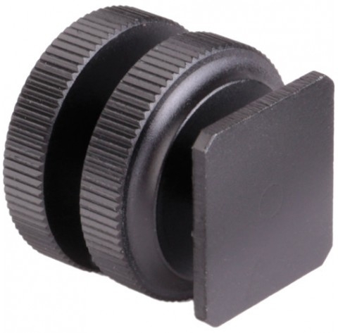 Hot Shoe to 1/4-20 Thread Male Post Adapter Mount for Cameras, Rails, Ball Heads and Flash Connections
