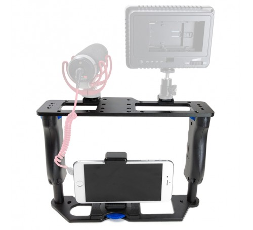 iographer filmmaking case for iphone, iographer ipad iphone, iographer, iphone camera cage, ipad camera cage, iphone tripod mount, iphone mount, iphone 6 7 8 tripod mount, iographer, iographer case, padcaster iphone tripod mount, padcaster, 17-UPMONU,