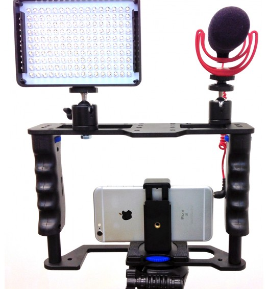 iShot Pro 160 LED Camera Video Lamp Light for Canon, Nikon and Hot Shoe Mounts - LED Photo/ Video Light Set