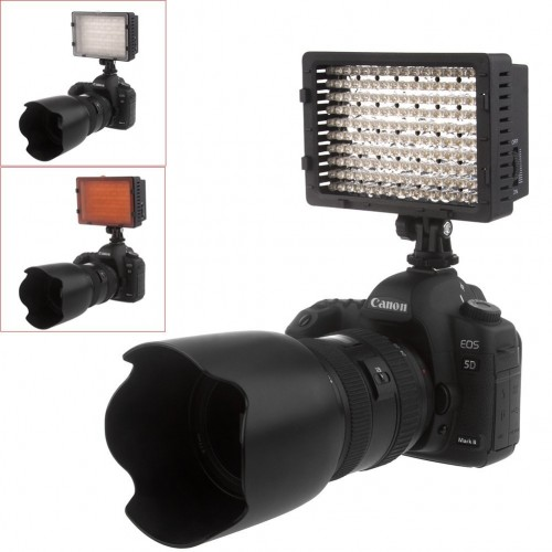 iShot Pro 160 LED Camera Video Lamp Light for Canon, Nikon and Hot Shoe Mounts LED Photo / Video Light Set