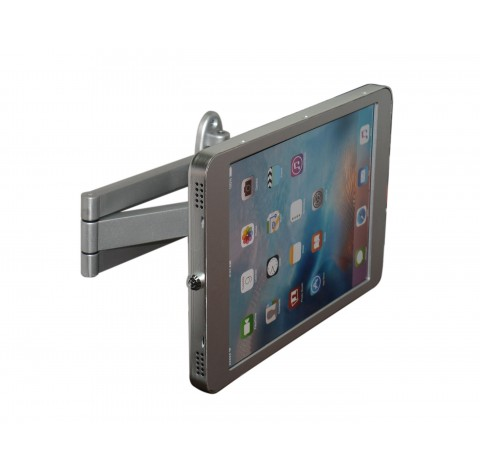 G9 Pro iPad Pro 9.7 / iPad 5 (9.7-inch) Wall VESA Style HD Swing Arm Kiosk Mount with Security Key Locking