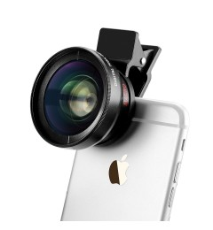 3in1 iPhone iPad Camera Lens Kit 37mm Super Wide Angle + Macro + Free CPL Filter w/ Bag