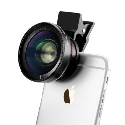 3in1 Professional Camera Lens Kit 37mm Super Wide Angle + Macro + Free CPL Filter w/ Bag for iPad, iPhone and Android Devices