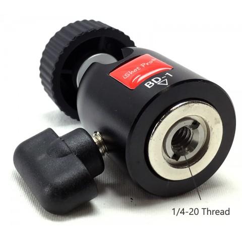 Powerful Mini 1/4-20 Thread 360° Locking Swivel Ball Head for SLR Camera, Tripods, GoPro, iShot Pro Mounts and More V2