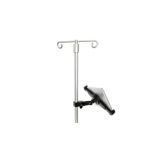 Hospital IV Pole iPad Tablet Clamp Mount COVID - Count on the iShot G10 Pro w/ Clamp