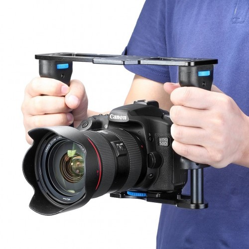 iShot Pro Universal 360° Adjustable Premium ALL METAL Filmmaking Video Rig Stabilizer Kit Camera Cage for iPhone Samsung Android Google Sony GoPro