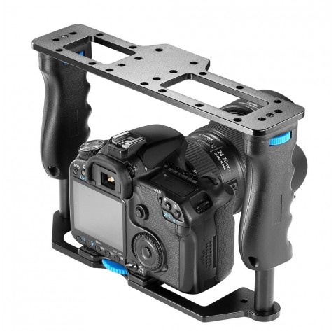 Aluminum Alloy Film Movie Making Camera Video Cage for DSLR Cameras Flash LED Lights Microphone