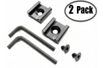 "Cold Shoe Mount Adapter Bracket Standard Hot Shoe Type with 1/4"" Thread Hole for Camera DSLR Flash Led Light Monitor Video and More 2-Pack"