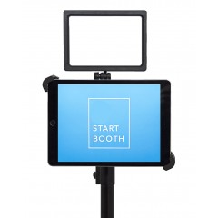 "G10 Pro DIY iPad Tablet Photo Booth Portable Tripod Stand with High Intensity Basic 160 LED Light Kit, Fits 7-10.5"" iPad"