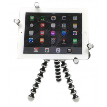 G7 Pro iPad 12345, iPad Air, mini, Pro 9.7 / 10.5 Tripod Mount + 360° Swivel Ball Head + Flexible Gorilla Pod Tripod Stand