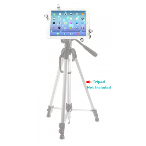 iShot G7 Pro Metal iPad Pro 12.9 Universal Tablet Tripod Mount Holder Adapter + 360° Swivel Ball Head + TigerPOD Flexible Tripod Stand Kit