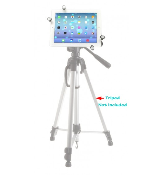 "iShot G7 Pro Metal iPad mini 1 2 3 4 Tripod Mount Holder Adapter + 360° Swivel Ball Head + TigerPOD Flexible Tripod Stand Kit, Compatible with iPad & 7-11"" Tablets"