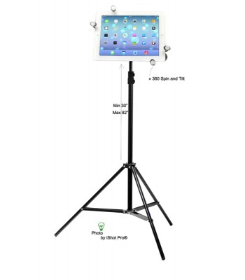 G7 Pro iPad Tripod Mount and Stand Bundle Kit for iPad 1, 2, 3, 4, 5, mini, iPad Air 1, 2, Pro 9.7