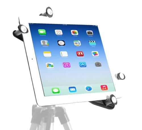 """iPad Secure Holder with 1//4/""""-20 Mount and Security Cable with Combination Lock"""