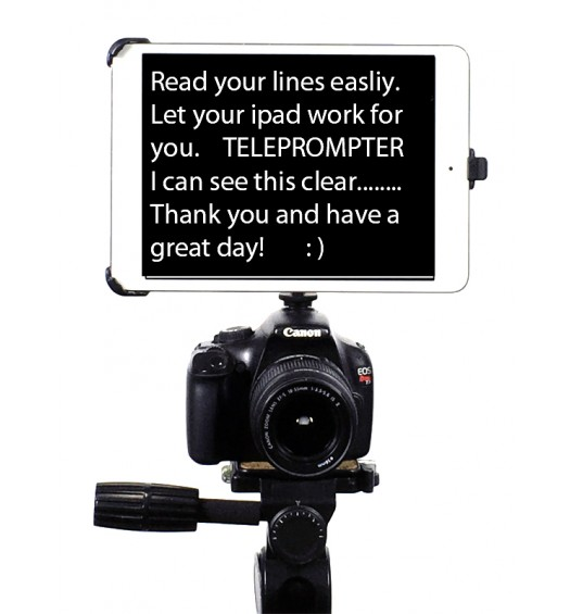 "G8 Pro iPad Pro 12.9 SLR Camera Teleprompter Hot Shoe / Tripod Mount Connection + 11"" Extension Arm"