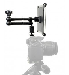 "G8 Pro iPad mini 1 2 3 SLR Camera Teleprompter Hot Shoe / Tripod Mount Connection + 11"" Extension Arm"