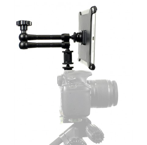 "G8 Pro iPad mini 123 SLR Camera Teleprompter Hot Shoe / Tripod Mount Connection + 11"" Extension Arm"