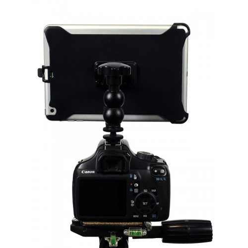 "G8 Pro iPad Pro 9.7 SLR Camera Teleprompter Hot Shoe / Tripod Mount Connection + 11"" Extension Arm"