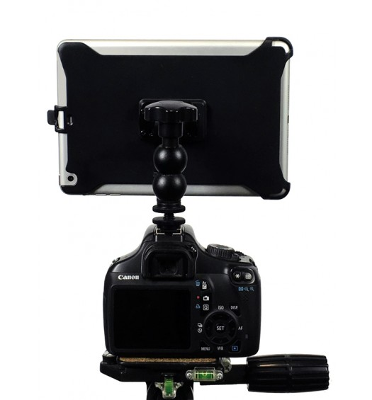 "G8 Pro iPad Pro 10.5 SLR Camera Teleprompter Hot Shoe / Tripod Mount Connection + 11"" Extension Arm"