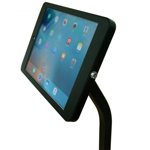 G9 Pro iPad Pro 12.9 Tripod Floor Stand Display Kiosk Mount with Locking Wheels / Security Key Lock / Charge Cable