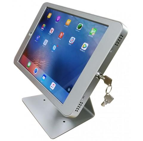 G9 Pro iPad Pro 12.9 Table Top 360° Swivel Kiosk POS VESA Mount Stand with Security Key Locking