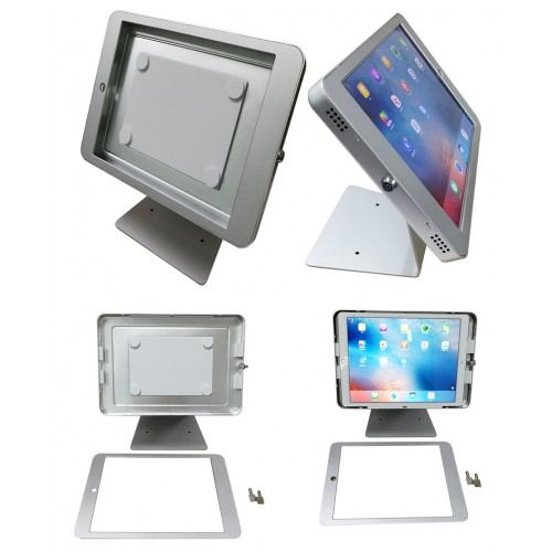G9 Pro iPad Pro 12.9 (Gen. 1, Gen.2) Table Top 360° Swivel Kiosk POS VESA Mount Stand with Security Key Locking