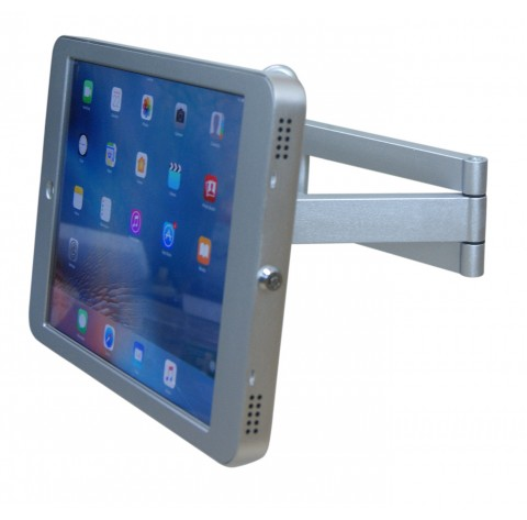 G9 Pro iPad Pro 12.9 Wall VESA Style HD Swing Arm Kiosk Mount with Security Key Locking