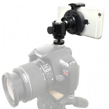 iPhone Smartphone DSLR Camera Cold Shoe Mount  with 360° mini Ball Head